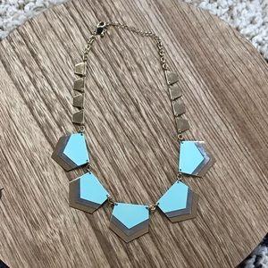 Light blue statement necklace